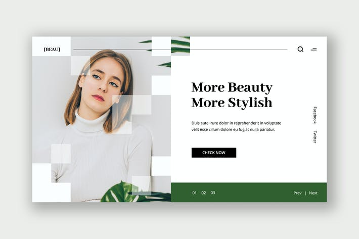 Thumbnail for Beauty Treatment Hero Header Template