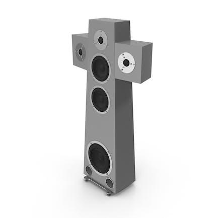 High End Speaker Grey