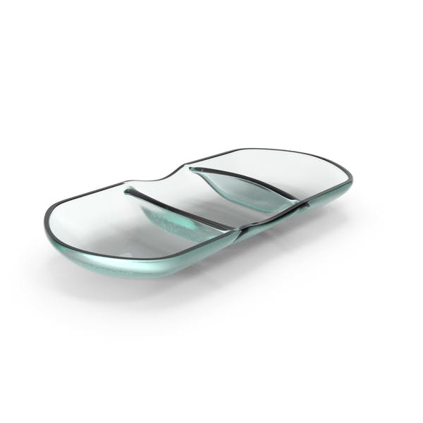 Thumbnail for Glass 3 compartment bowl