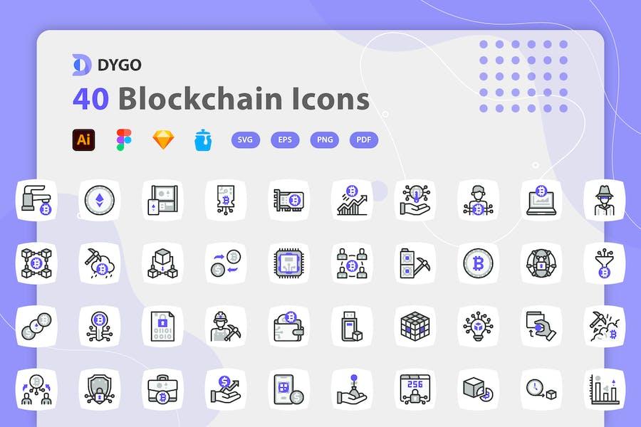 Dygo - Blockchain Icons