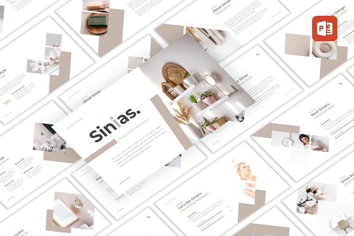 Sinias - Элегантный стиль PowerPoint шаблон