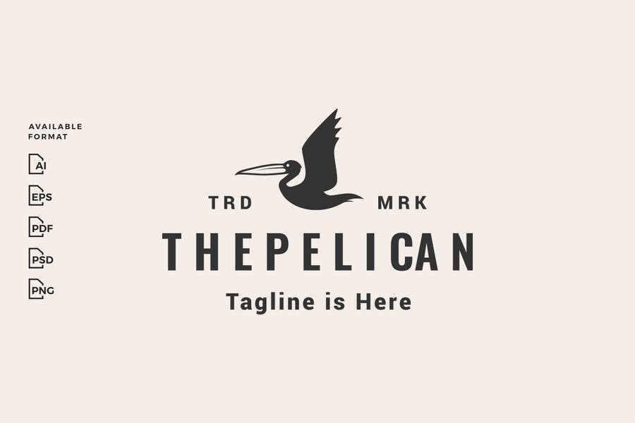 pelican hipster logo