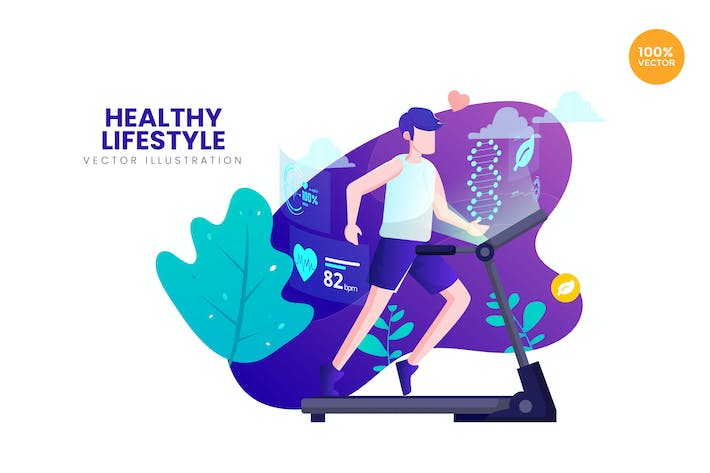 Thumbnail for Healthy Lifestyle Vector Illustration Concept