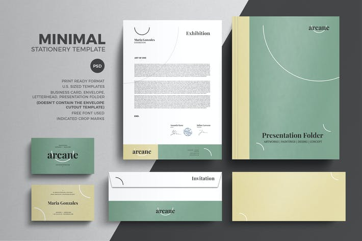 Thumbnail for Minimal Pastel Stationery Design Template