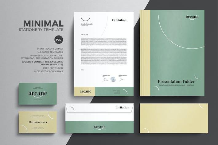 minimal pastel stationery design template by eightonesixstudios on