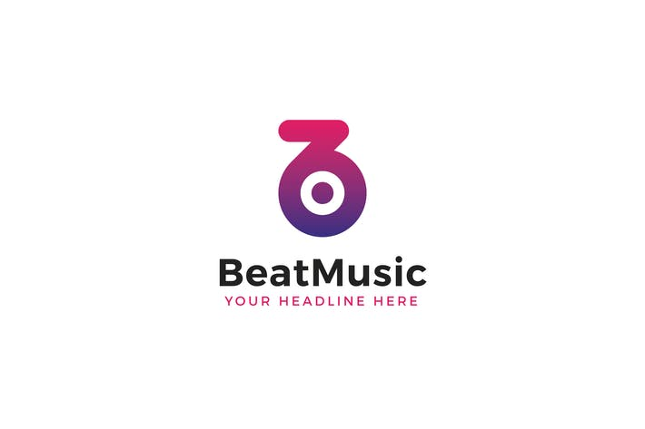 Thumbnail for BeatMusic Logo B BuchstabenVorlage