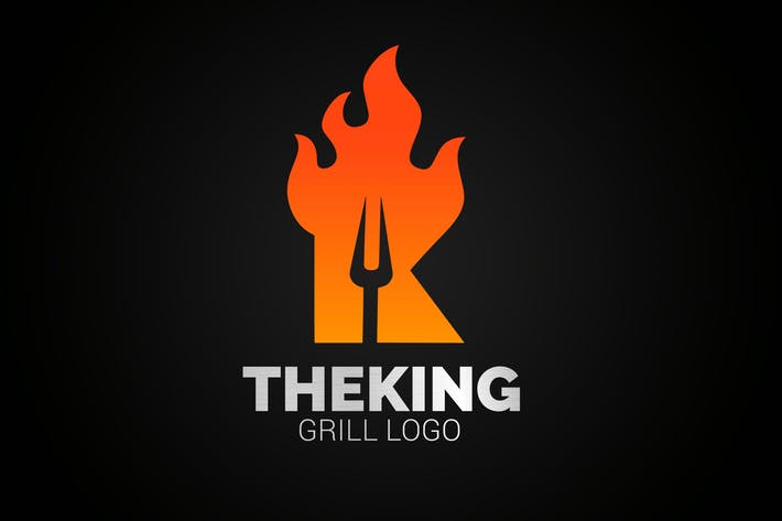 Thumbnail for Letter K Fire Grill Logo