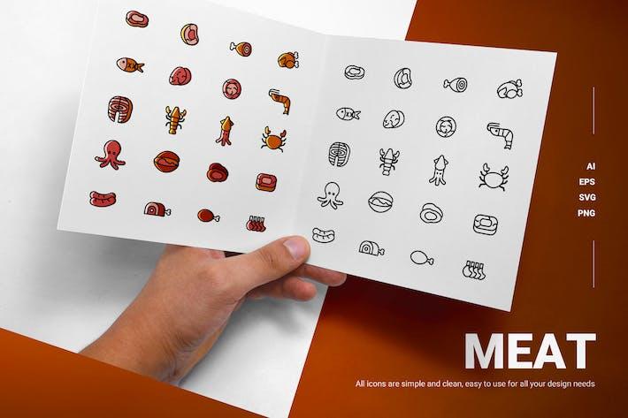 Fleisch - Icons