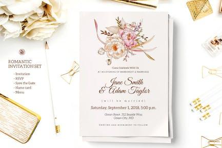Romantic Invitation Set