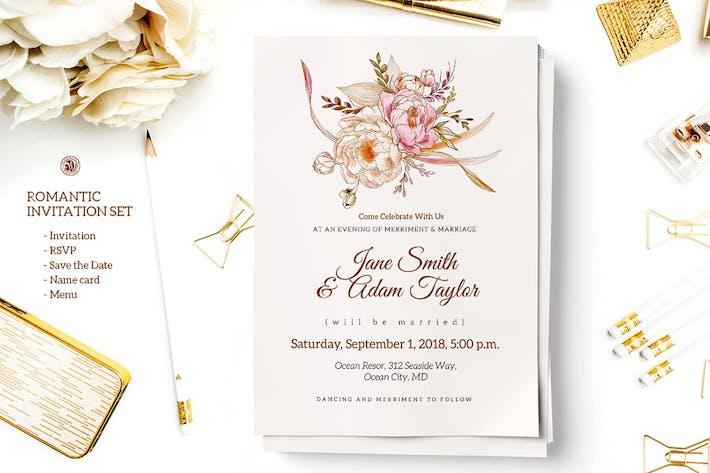 Thumbnail for Romantic Invitation Set