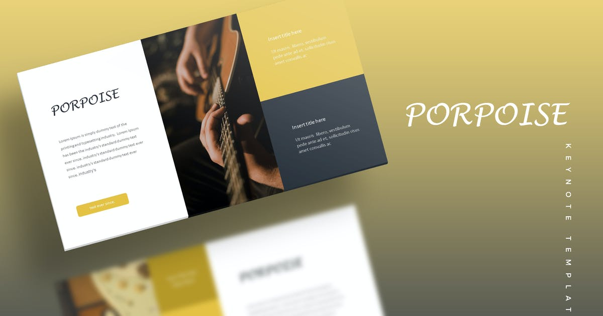 Download Porpoise - Keynote Template by aqrstudio
