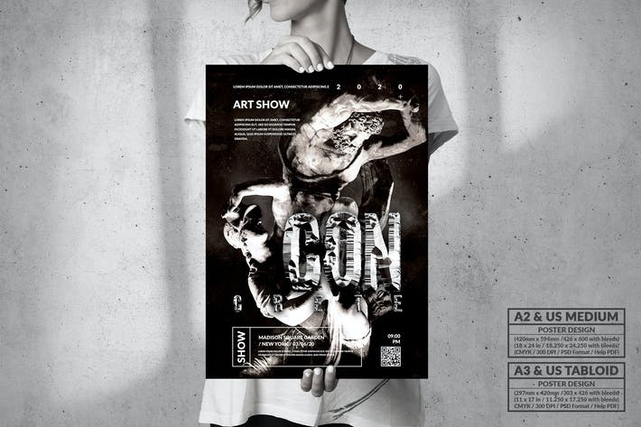 Concrete Art Exhibition - Big Poster Design
