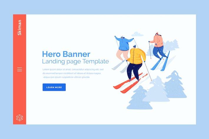 Thumbnail for Skiman - Hero Banner Template