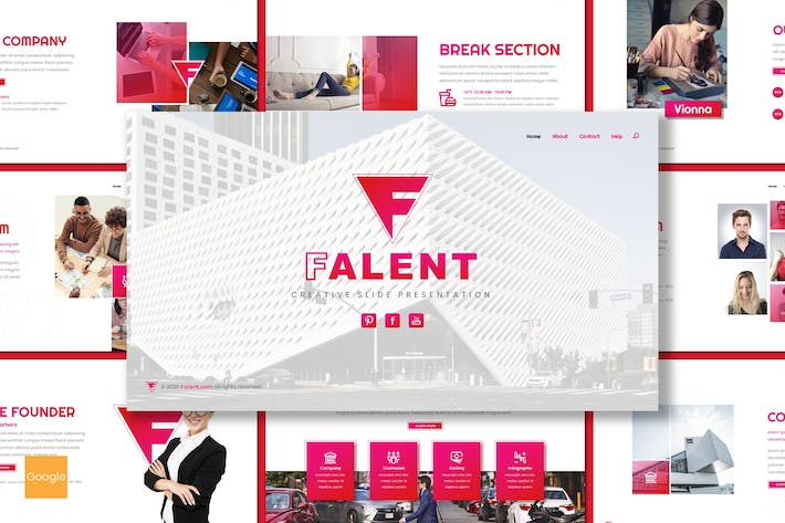 Thumbnail for Falent - Business Google Slides Template