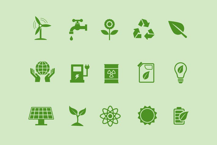 Cover Image For 15 Ecology Icons