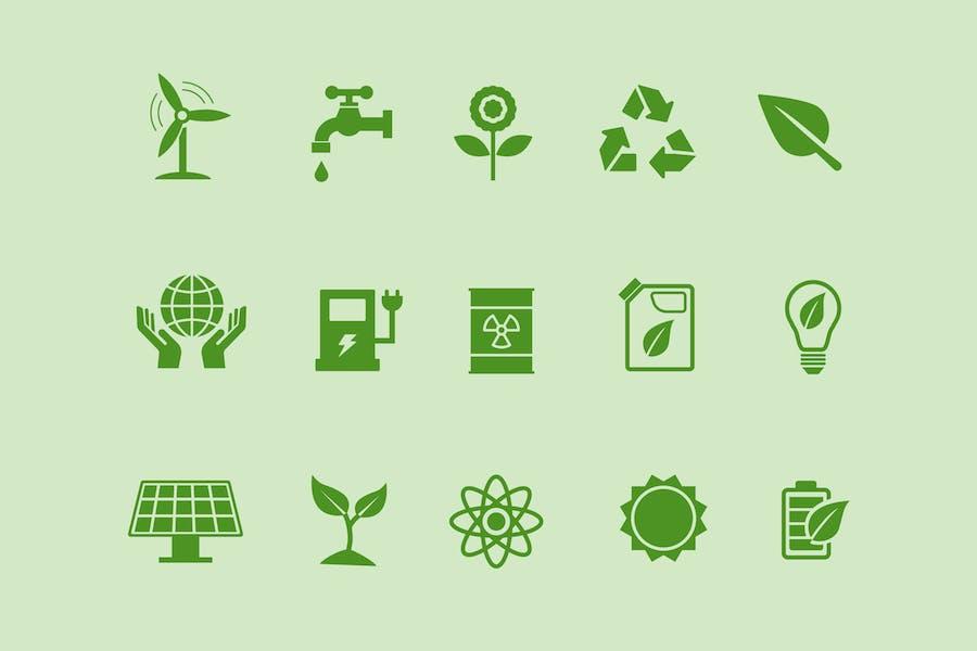 15 Ecology Icons
