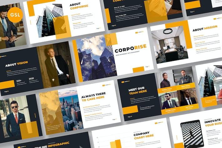 Thumbnail for Corporise - Business Google Slides