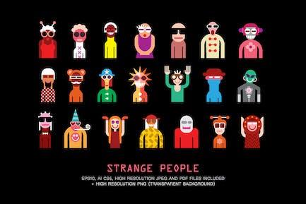 Strange People Portraits vector illustration