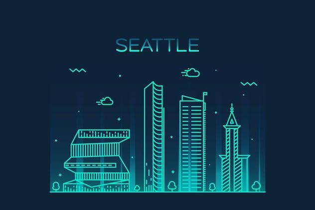 Seattle skyline, United States