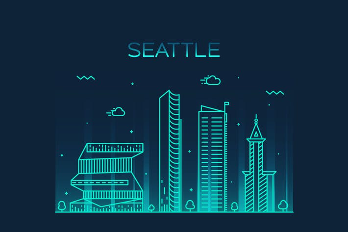 Thumbnail for Seattle skyline, United States