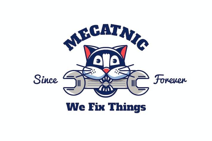 Thumbnail for mechanic cat - Mascot & Esport Logo
