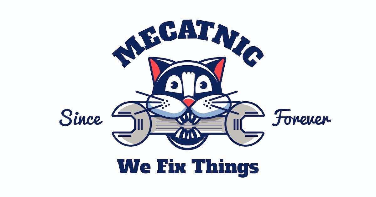 Download mechanic cat - Mascot & Esport Logo by aqrstudio