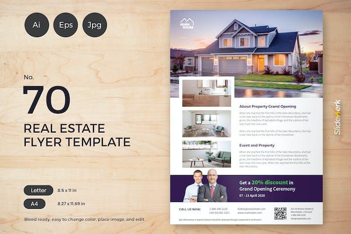 Thumbnail for Real Estate Flyer Template - 70 Slidewerk