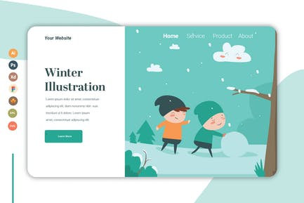 Winter - Landing Page Template