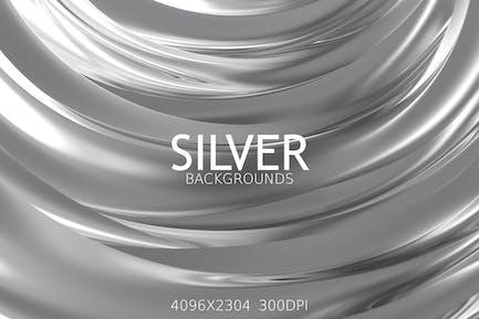 Silberne Hintergründe