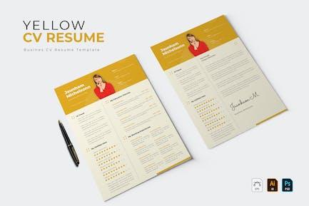 Yellow Pastle | CV & Resume