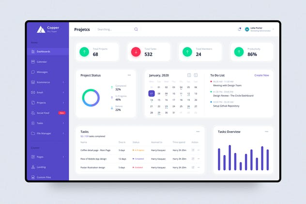 Projects - Dashboard UI Kit concept