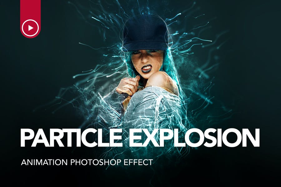 Gif Animated Particle Explosion Photoshop Action