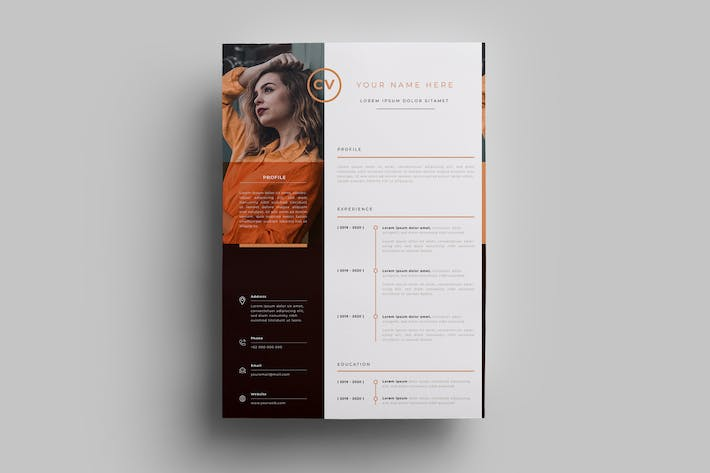 Thumbnail for Resume Design Templates.16