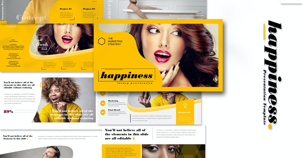 Download Happiness - Powerpoint Template by Artmonk