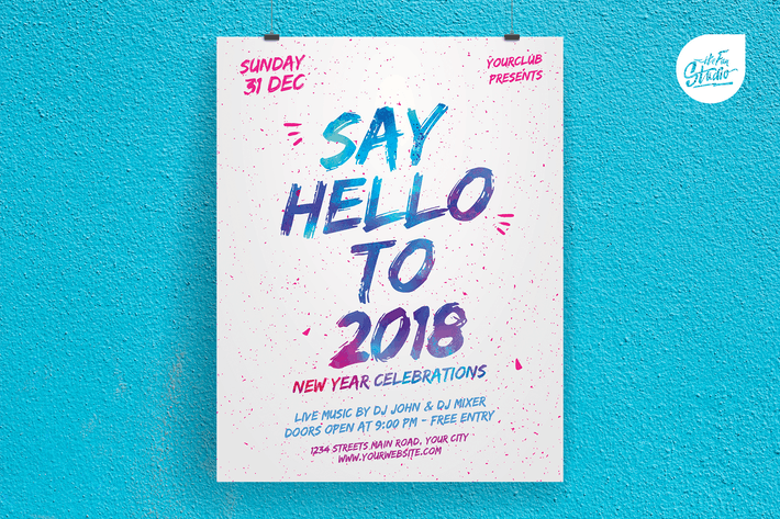 Thumbnail for Say Hello To New Year Celebrations Flyer
