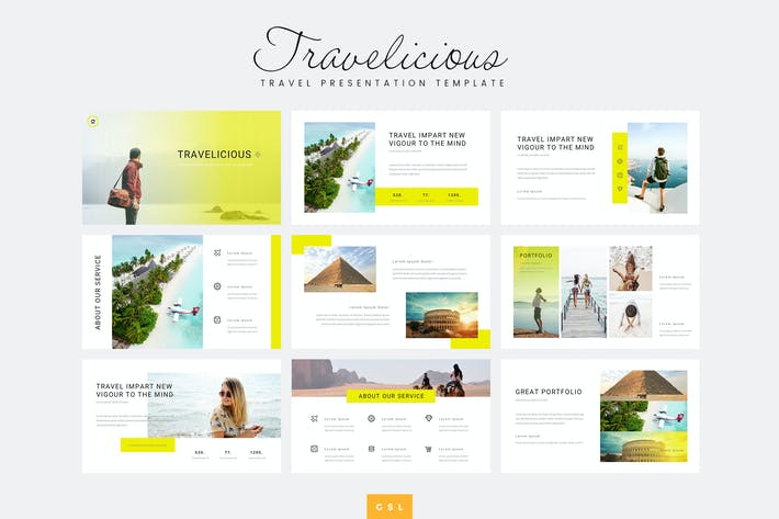 Thumbnail for Travelicious - Travel Google Slides Template