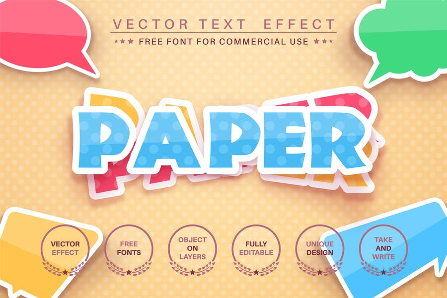 Layer sticker - editable text effect,  font style.