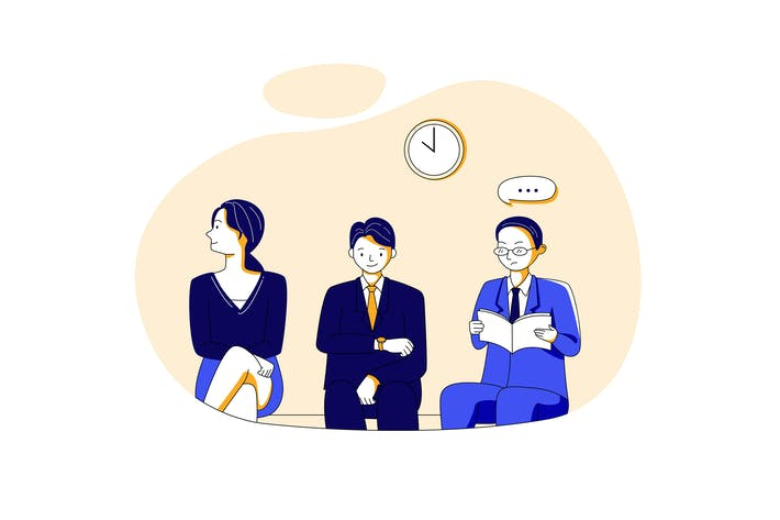 Thumbnail for Job Interview Illustration concept