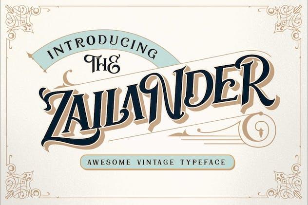 Zailander - Vectorian Vintage Font - product preview 10