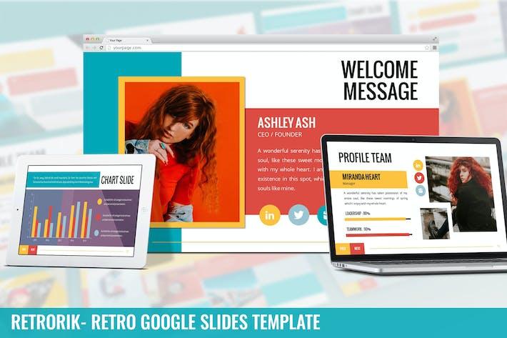 Thumbnail for Retrorik - Retro Google Slides Template