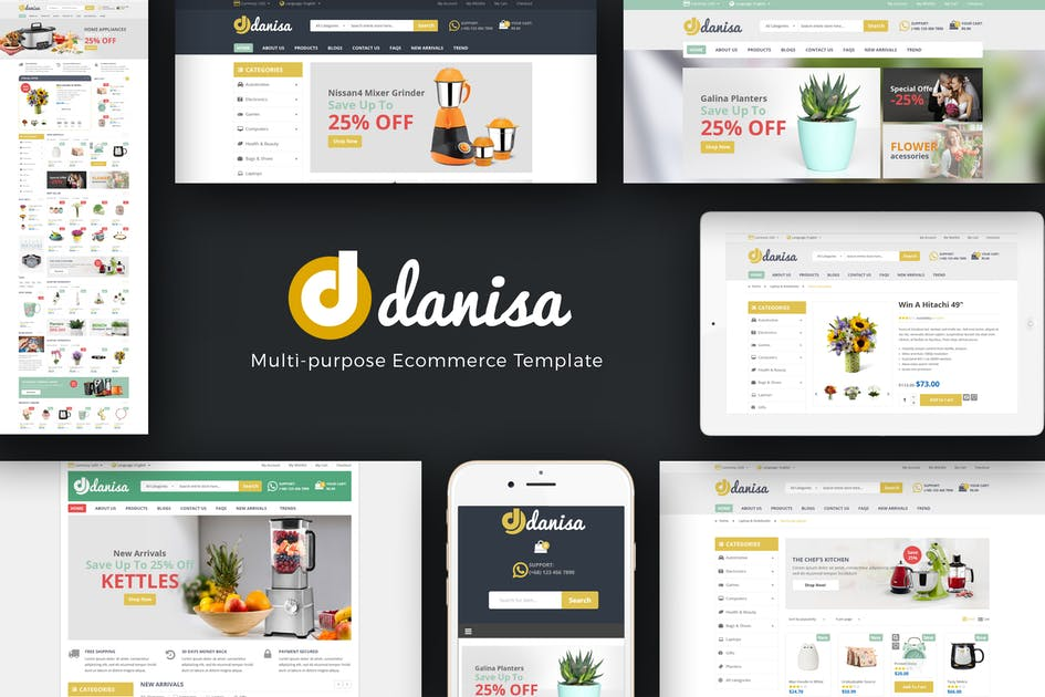 Download Danisa - Appliances, Gifts, Flower Magento Theme by Plaza-Themes