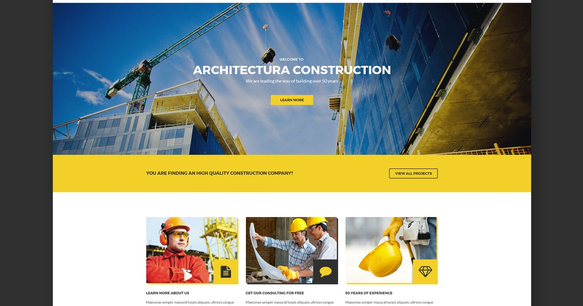 Download Architectura - Construction HTML Template by WPmines