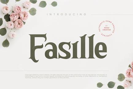 Fasille - Elegant Decorative Typeface