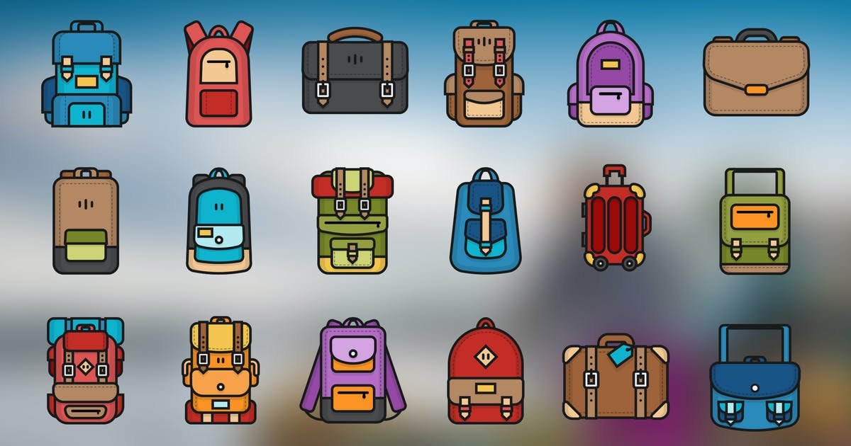 Download Backpack & Bag Icon by vintagio