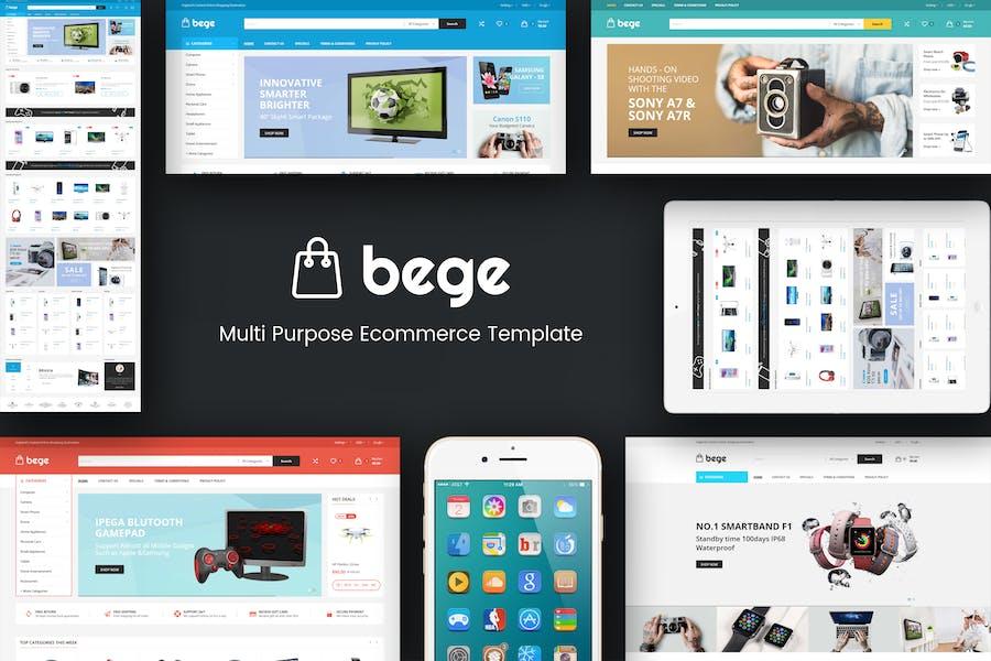 Bege - Tema Opencart Responsivo