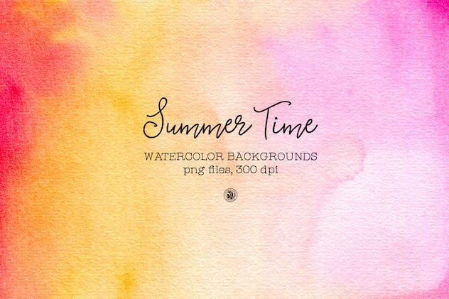 Summer Time Watercolor Backgrounds