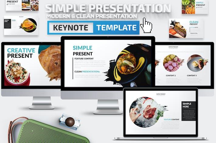 Thumbnail for Simple Keynote Presentation Template