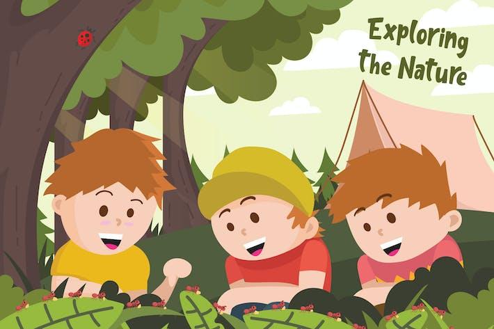 Thumbnail for Natur erkunden - Vektor illustration