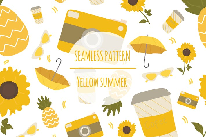 Thumbnail for Yellow Summer – Seamless Pattern