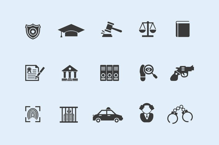 Cover Image For 15 Law and Legal Icons